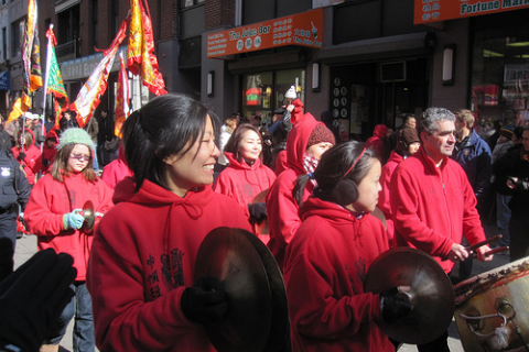 in Boston's Chinatown in 2010, celebrating the Chinese New Year