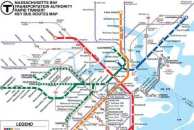 An MBTA transit map.
