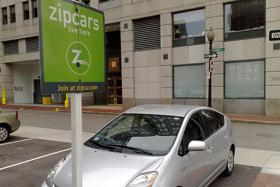 A Zipcar in Boston's Financial District.