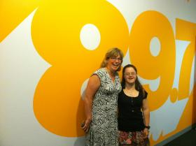 Mary Beth McMahon and Melissa Reilly at the WGBH studios.
