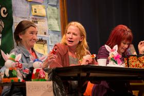 "Nancy E. Carroll, Johanna Day, and Karen MacDonald in ""Good People."""