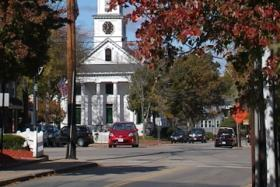 Medfield, shown in October 2012, has a Mayberry-like feel — but new housing may strain its resources.