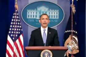 Pres. Obama addresses the nation yesterday ahead of Hurricane Sandy making landfall.