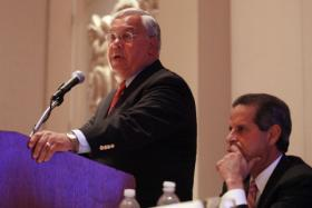 Mayor Menino gives a speech at the 2009 U.S. Conference of Mayors. 
