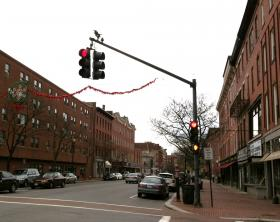 Downtown Lawrence, Massachusetts.