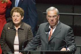 Mayor Menino, seen here, has been hospitalized for over a month.