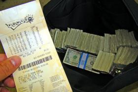A winning Powerball ticket purchased in Madison, WI in 2010. Wednesday's jackpot is expected to top out over $500 million.
