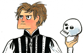 Cartoonist Ryan North's Hamlet.