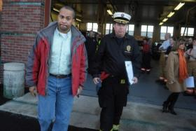 State Fire Marshal Stephen D. Coan with Governor Deval Patrick in 2009.