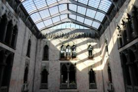 An interior shot of the atrium at the Isabella Stewart Gardner Museum. A 1990 art robbery at the museum has never been solved. Writer B.A. Shapiro based her new novel on the heist.