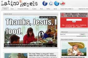 Screenshot from latinorebels.com, which was started by Julio Ricardo Varela. Varela is based out of Milton, MA.