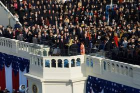 Pres. Obama and First Lady Michelle Obama, at the President's inauguration ceremony in 2008.