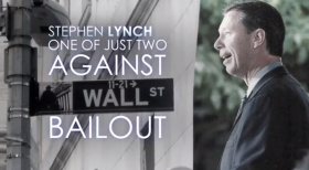 Still from a web video announcing candidacy of U.S. Stephen Lynch for U.S. Senate.