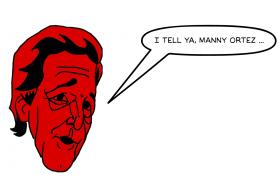 John Kerry, combining the names of Manny Ramirez & David Ortiz