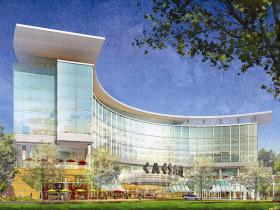 Rendering of the proposed casino and resort at Suffolk Downs.