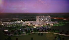 Rendering of Warner Gaming proposed casino & resort in Milford.