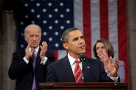 Pres. Obama giving his 2010 State of the Union address.