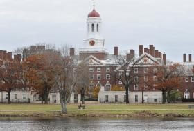 In this Nov. 13, 2008 file photo, the campus of Harvard University in Cambridge, Mass. is seen. Harvard University officials say Thursday, Sept. 22, 2011 that its largest-in-the-nation endowment earned a profit of $4.4 billion in fiscal 2011, growing to a