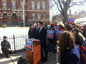City Councilor John Connolly announces his campaign for Mayor of Boston.