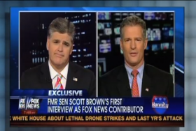 Scott Brown makes his debut as a Fox News contributor