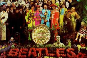 A portion of the cover of The Beatles' Sgt. Pepper's Lonely Hearts Club Band