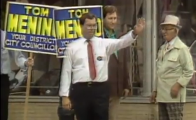 City council candidate Tom Menino in 1984