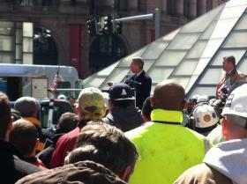U.S. Rep. Stephen Lynch in Dewey Square.