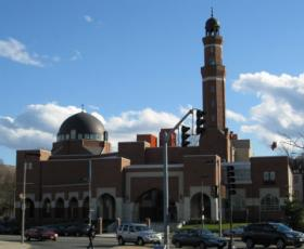 The mosque at the Islamic Society of Boston Cultural Center in Roxbury.