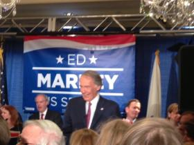 Rep. Ed Markey at his victory party in Boston.