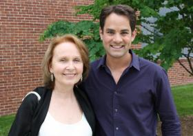 Kate Burton and Jared Bowen on location at the Williamstown Theatre Festival