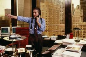 Michael Douglas as Gordon Gekko in the movie Wall Street. CEO pay soared in 2012, recalling earlier flush times for company heads.