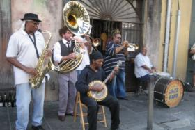Preservation Hall Jazz Band playing in New Orleans. Edgar B. Herwick III picked two tracks by the band as his best new music.