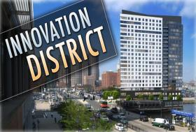 Boston's Innovation District has lured some 200 businesses looking for cheaper rents and room to expand.