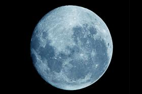 At 9:45PM Tuesday look up! If skies are clear, you will see a big, bright Blue Moon.