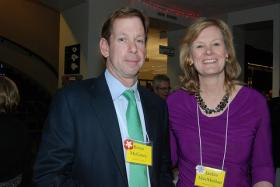 Boston Globe Editor Brian McGrory, pictured here with ESPN's Jackie MacMullan, talked with Boston Public Radio about the sale of his newspaper.