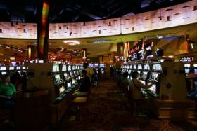 Interior of the Mohegan Sun casino in Connecticut. Massachusetts voters may decide this Fall whether to have similar casinos in the state.