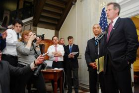 Former Sen. Scott Brown announced Wednesday that he wouldn't run for governor in 2014.