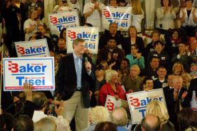 Charlie Baker was a candidate for Massachusetts governor in 2010. On Wednesday, he announced he will embark on a second run in 2014.