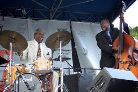 The Michael Carvin Quartet performed at the 2006 Berklee BeanTown Jazz Festival. The festival is one of the highlights on the fall arts calendar.