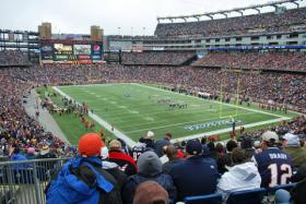 View from inside Gillette Stadium. The Patriots kicked off their season on Sunday, September 8.