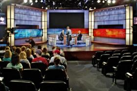 A live taping of the CNN show Crossfire. Has a more polarized media damaged civil discourse and political debate? Or does it reflect what viewers — some highly partisan — really want?
