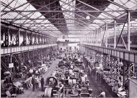 Past waves of automation, like the rise of the industrial factory in the nineteenth century, displaced many workers from their previous occupations. This wave, says Osborne and Frey, may be even more drastic. Here, the Big Helios-Factory floor in Ehrenfeld, Cologne, Germany in 1895.