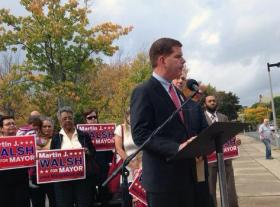 Mayoral candidate Marty Walsh.