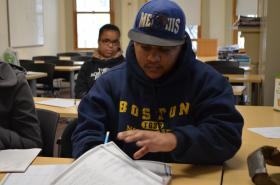 Howard Thompson, 24, is on track to finish his GED by the end of the year.