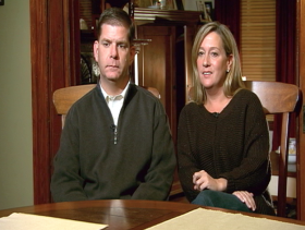 Boston mayor-elect Marty Walsh with his longtime girlfriend, Lorrie Higgins.