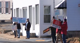 Milford residents on the day of the casino vote.