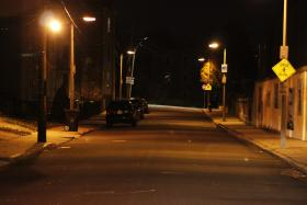 Blue Hill Avenue in Dorchester, a spot frequented by prostitutes and johns.