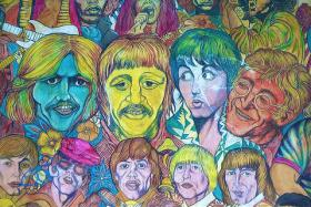 Street art in New York City featuring The Beatles and the Rolling Stones. Fans of the groups are as rabid as the bands were, and are, prolific.