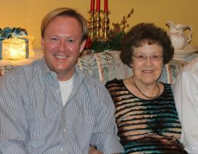 Allen Ward, left, and his mother, Grace.