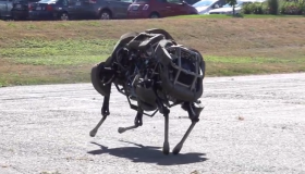 The Boston Dynamics WildCat robot.